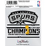 Rico San Antonio Spurs 2014 NBA Champions Static Cling Decal