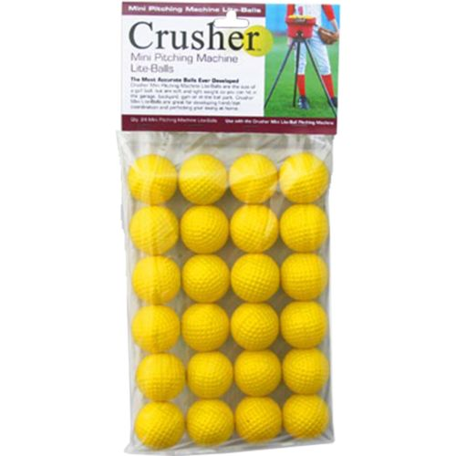 Trend Sports Crusher Mini Pitching Machine Lite-Balls 24-Pack