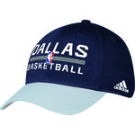 adidas Adults' Dallas Mavericks Authentic Practice Structured Flex Cap