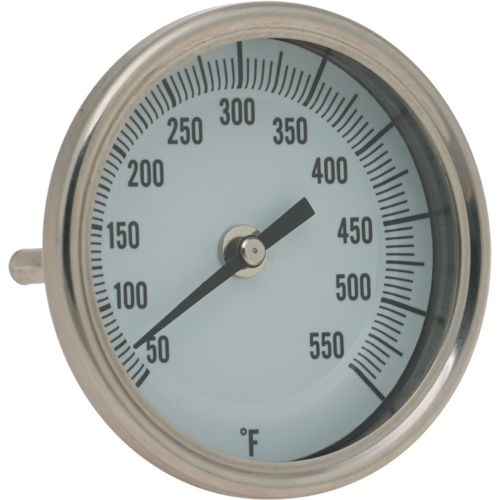 "Old Country BBQ Pits 3"" Glow Face Temperature Gauge"