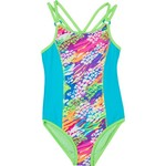 O'Rageous® Girls' Skin and Solid 1-Piece Swimsuit