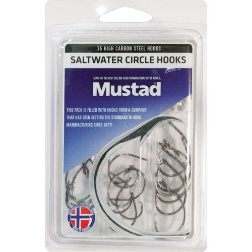 Mustad Assorted Saltwater Circle Hooks 35-Pack