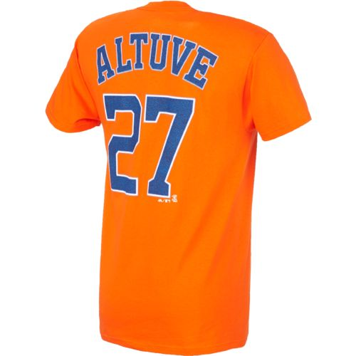 Display product reviews for Majestic Men's Houston Astros José Altuve #27 T-shirt