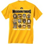 New World Graphics Men's University of Missouri Schedule T-shirt