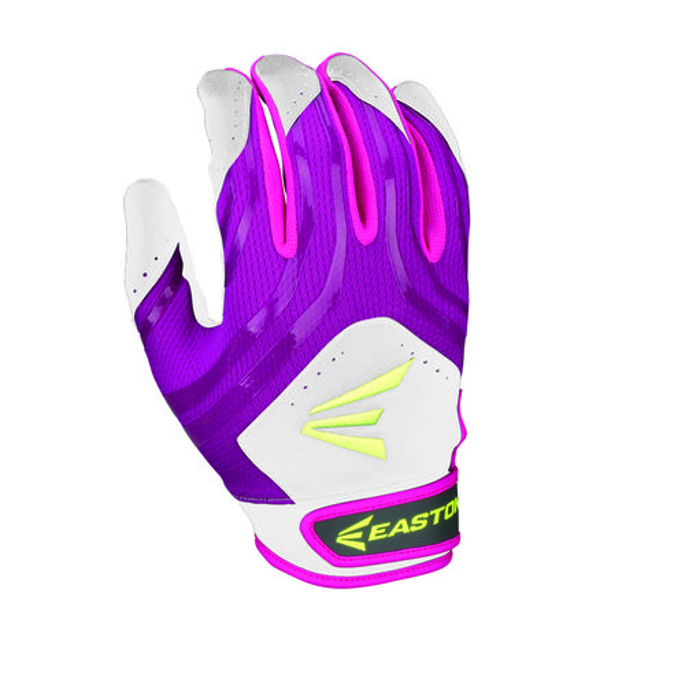 womens purple batting gloves