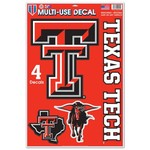 WinCraft Texas Tech University Multiuse Decals 4-Pack - view number 1