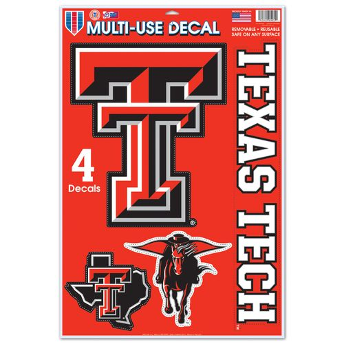 WinCraft Texas Tech University Multiuse Decals 4-Pack