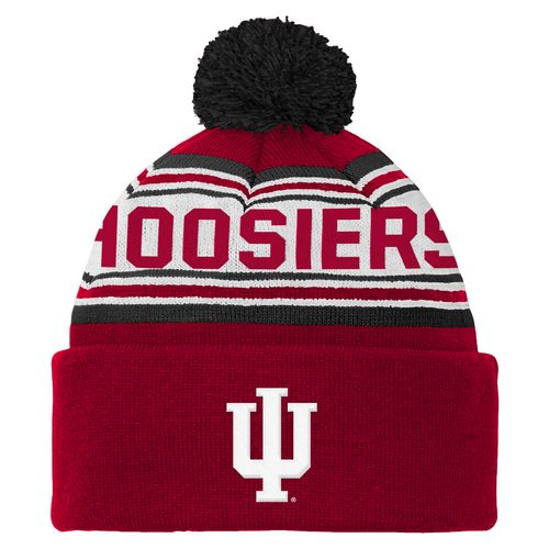 adidas™ Boys' Indiana University Cuffed Knit Cap with Pom