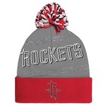 adidas Women's Houston Rockets Cuffed Knit Pom Hat