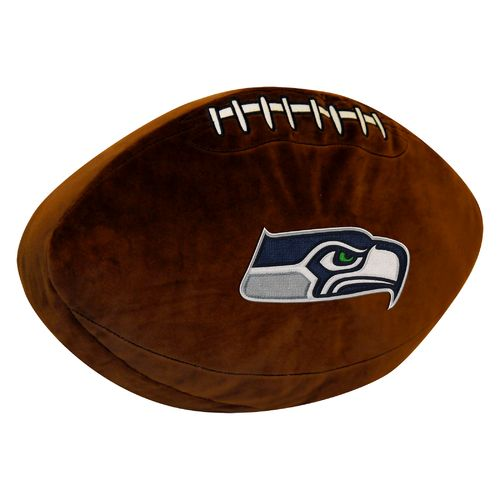 The Northwest Company Seattle Seahawks Football Shaped Plush Pillow