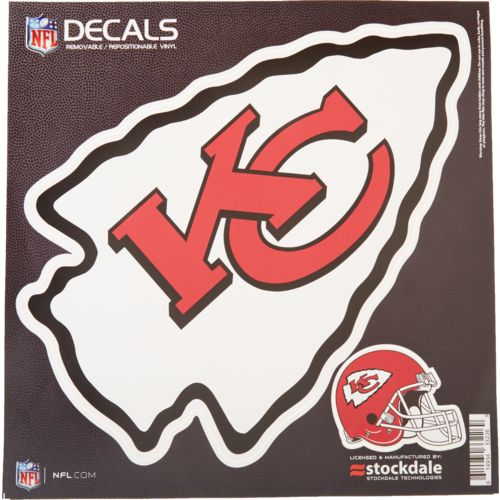 Stockdale Kansas City Chiefs Repositionable Vinyl Decal