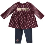 Colosseum Athletics Infant Girls' Texas State University Shining Polka Dot Dress Set