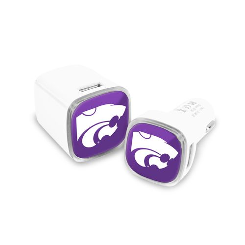 Mizco Kansas State University USB Chargers 2-Pack