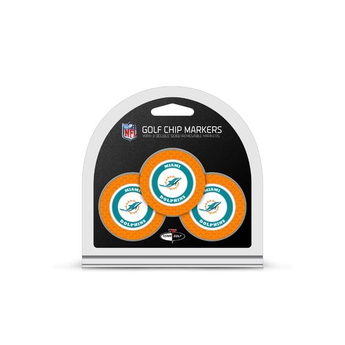 Team Golf Miami Dolphins Poker Chip and Golf Ball Marker Set