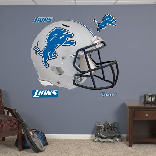 Fathead Detroit Lions Real Big Helmet Decal - view number 1