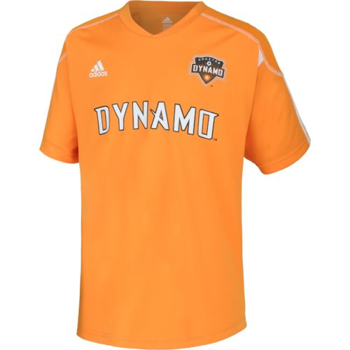 adidas Boys' Houston Dynamo Home Call Up Soccer Jersey