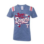 5th & Ocean Clothing Girls' Texas Rangers Love My Team T-shirt