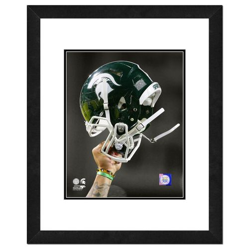Photo File Michigan State University Helmet 16' x 20' Matted and Framed Photo