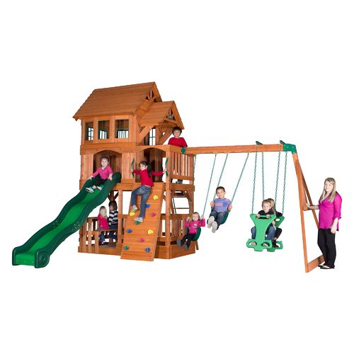 Display product reviews for Backyard Discovery™ Liberty II Wooden Swing Set