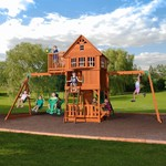 Backyard Discovery™ Skyfort II Wooden Swing Set - view number 4