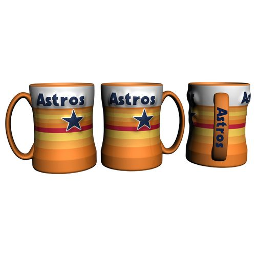 Boelter Brands Houston Astros Vintage Relief Style 14 oz. Coffee Mug