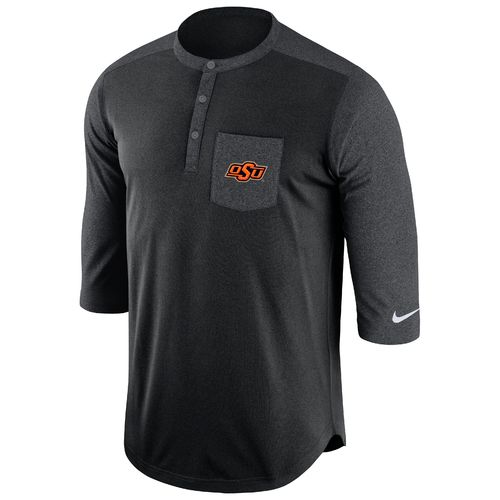 Nike Men's Oklahoma State University Dri-FIT Touch Henley