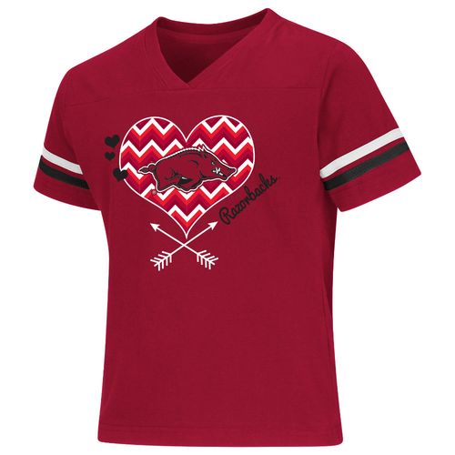 Colosseum Athletics Girls' University of Arkansas Football Fan T-shirt
