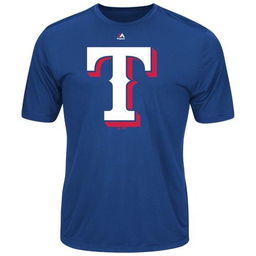 Majestic Men's Texas Rangers Synthetic Official Logo T-shirt
