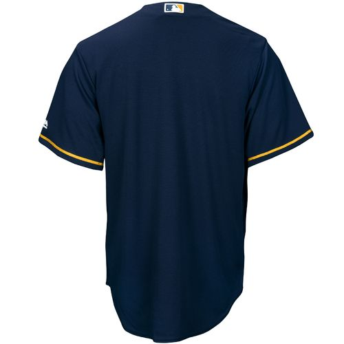 Majestic Men's Milwaukee Brewers Cool Base Replica Jersey - view number 2