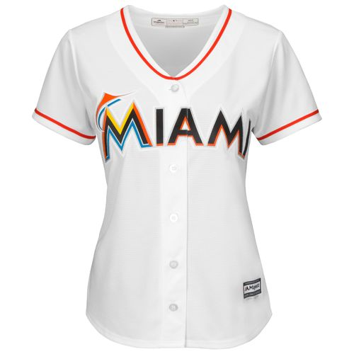 Majestic Women's Miami Marlins Cool Base® Replica Home Jersey