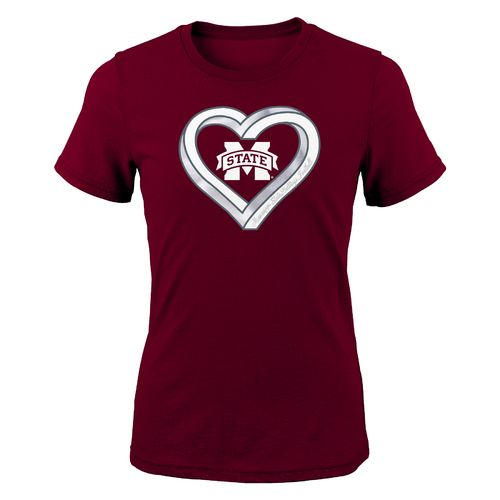 Gen2 Girls' Mississippi State University Infinite Heart Fashion Fit T-shirt
