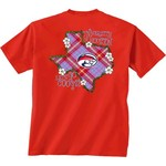 New World Graphics Women's University of Houston Bright Plaid T-shirt