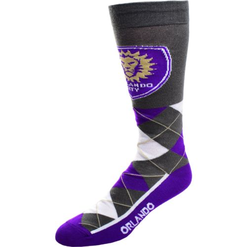 FBF Originals Men's Orlando City SC Argyle Zoom Dress Socks