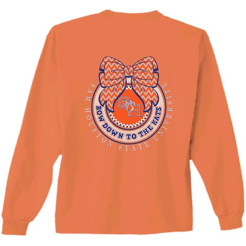 New World Graphics Women's Sam Houston State University Ribbon Bow Long Sleeve T-shirt