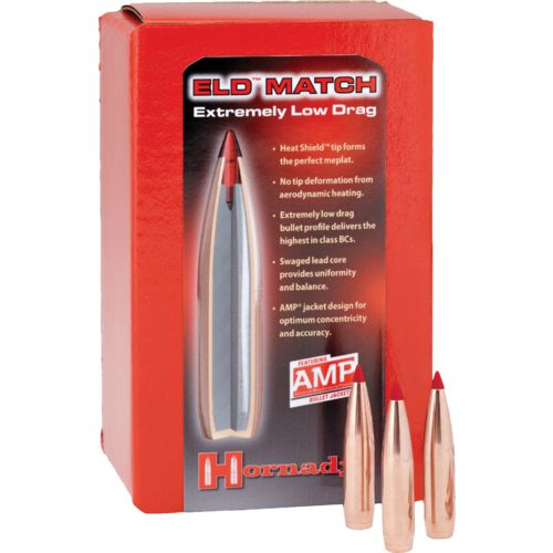 Hornady ELD Match 6.5mm .264 140-Grain Bullets