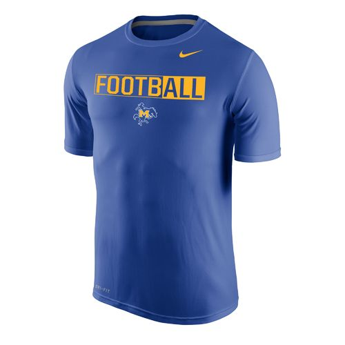 Nike™ Men's McNeese State University Dri-FIT Legend 2.0 Short Sleeve T-shirt