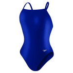 Speedo Women's PowerFLEX ECO Solid Flyback 1-Piece Swimsuit