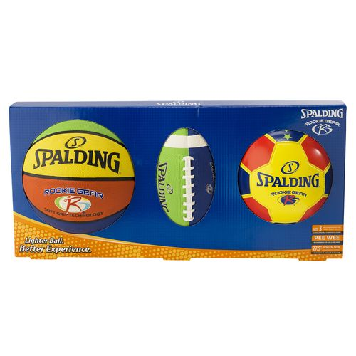 Spalding Youth Rookie Gear Sports Balls 3-Pack