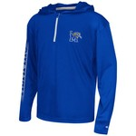Colosseum Athletics™ Boys' University of Memphis Sleet 1/4 Zip Hoodie Windshirt