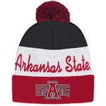 adidas™ Men's Arkansas State University Cuffed Knit Pom Beanie