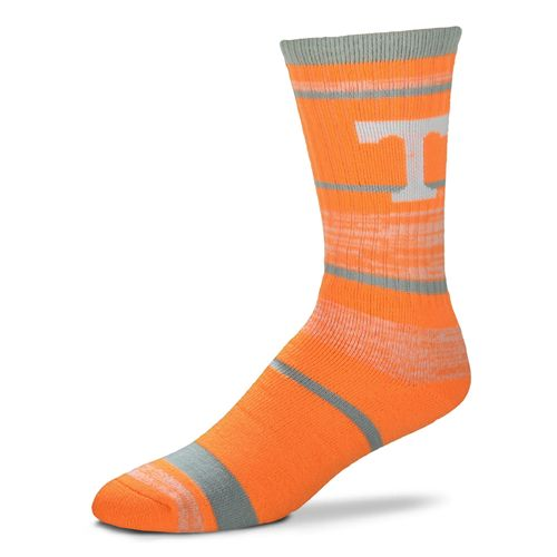For Bare Feet Men's University of Tennessee Striped Crew Socks