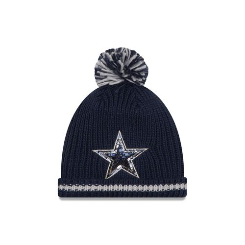 New Era Women's Dallas Cowboys Sequin Frost Knit Hat