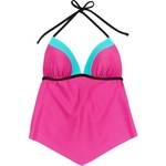 O'Rageous Juniors' Colorblock Molded Tankini Swim Top - view number 3