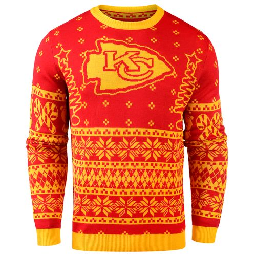 Team Beans Men's Kansas City Chiefs Lightweight Ugly Christmas Sweater