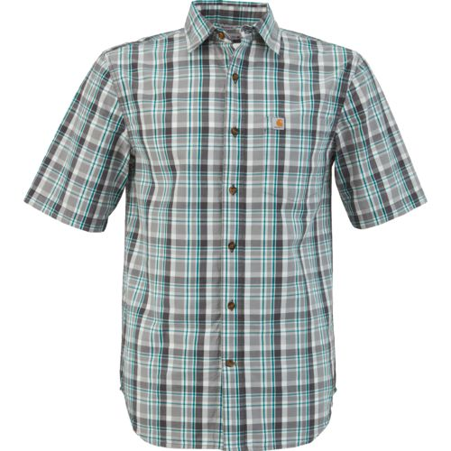 Carhartt Men's Essential Plaid Open Collar Short Sleeve Shirt
