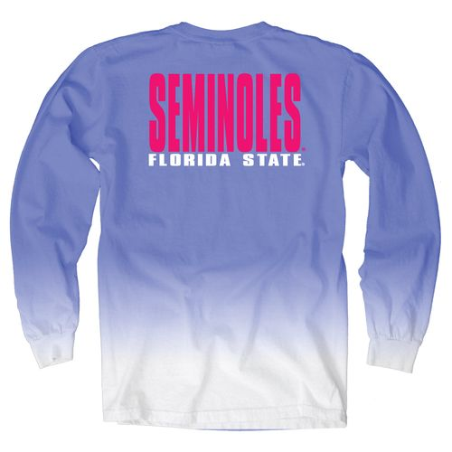 Blue 84 Women's Florida State University Ombré Long Sleeve Shirt