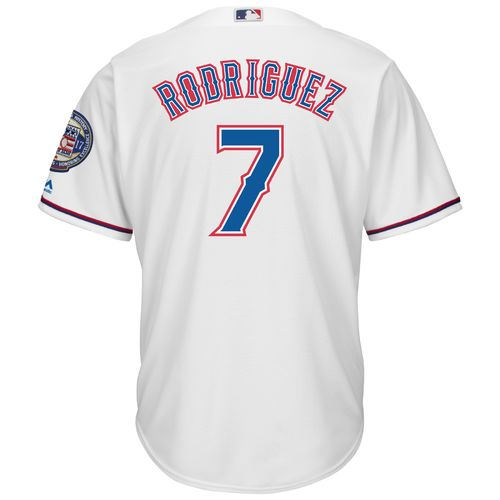 Majestic Men's Texas Rangers Ivan Rodriguez 7 Hall of Fame 2017 Jersey - view number 1