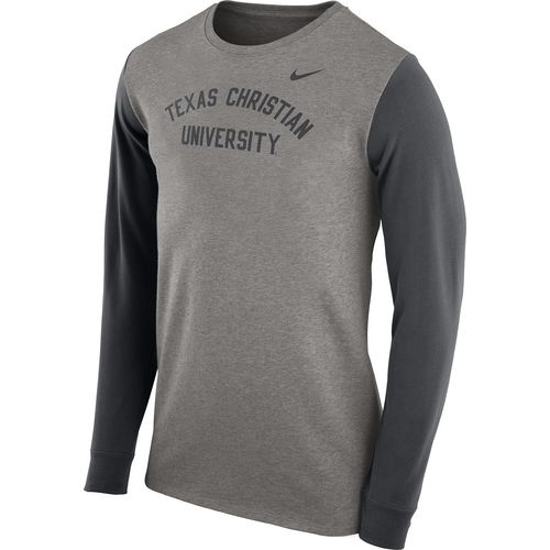 Nike Men's Texas Christian University Heavyweight Elevated Essentials Long Sleeve T-shirt