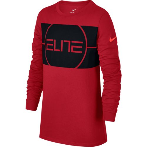 Nike Boys' Dry Elite Basketball Long Sleeve T-shirt