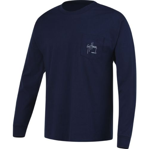 Guy Harvey Men's Black Magic Long Sleeve Pocket T-shirt - view number 1